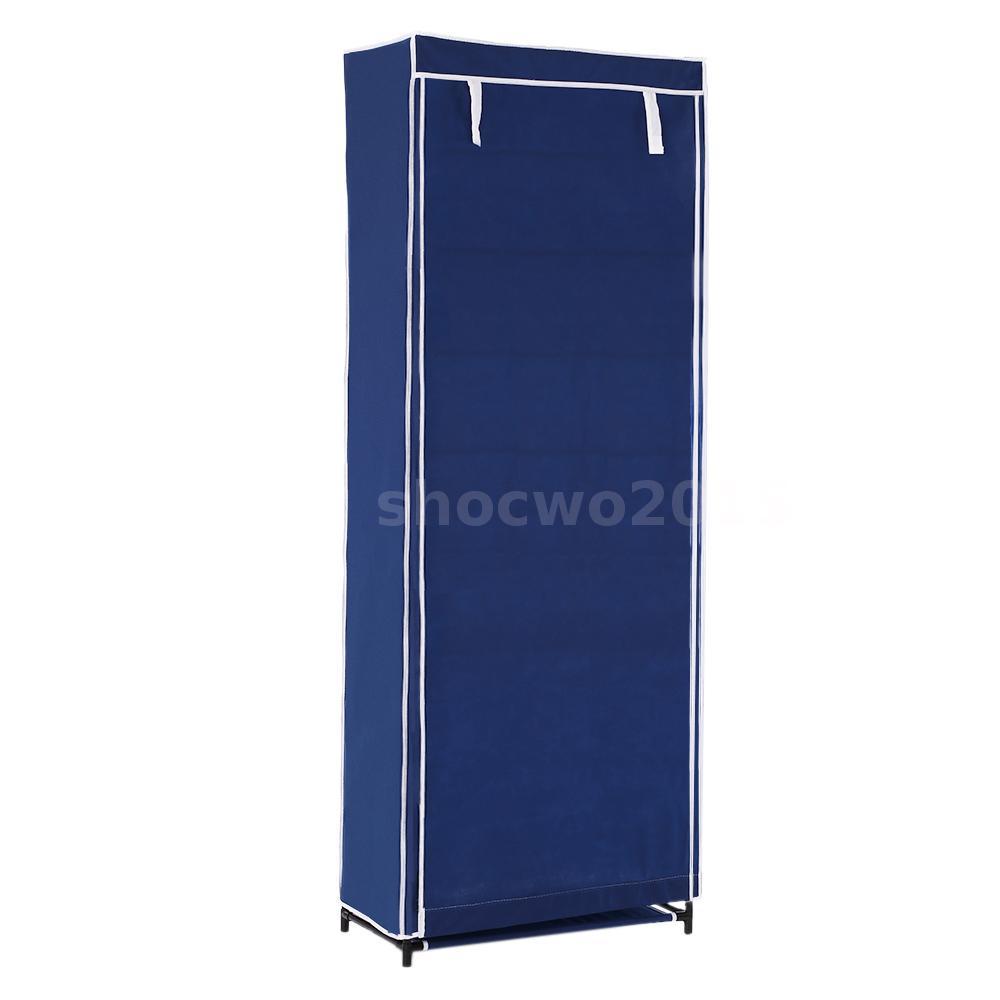 7 Layer Zip Up Door Shoe Rack Shelf Storage Closet ...