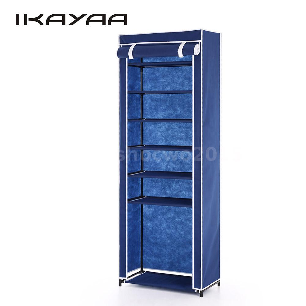 7 layer zip up door shoe rack shelf storage closet organizer cabinet foldable