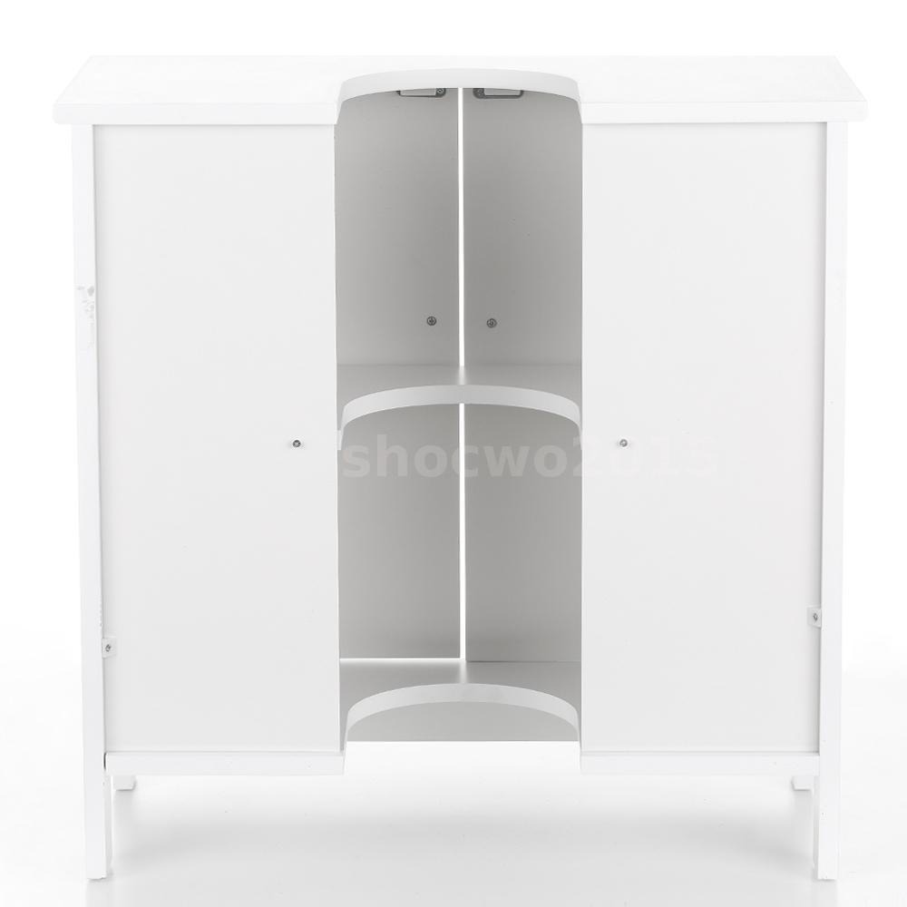 under cabinet bathroom storage pedestal sink storage cabinet space saver white 21101