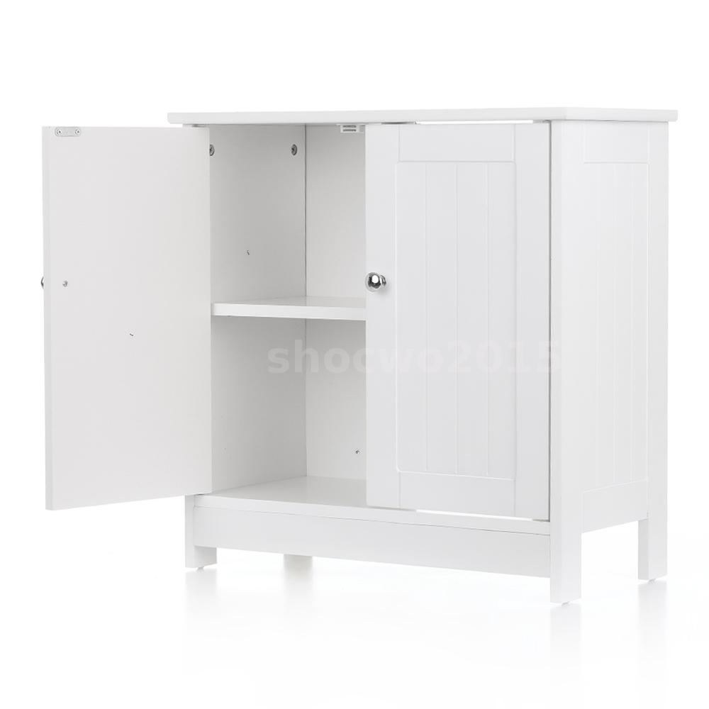 Under Pedestal Sink Storage Cabinet Space Saver White Vanity Bathroom Shelf B0E7