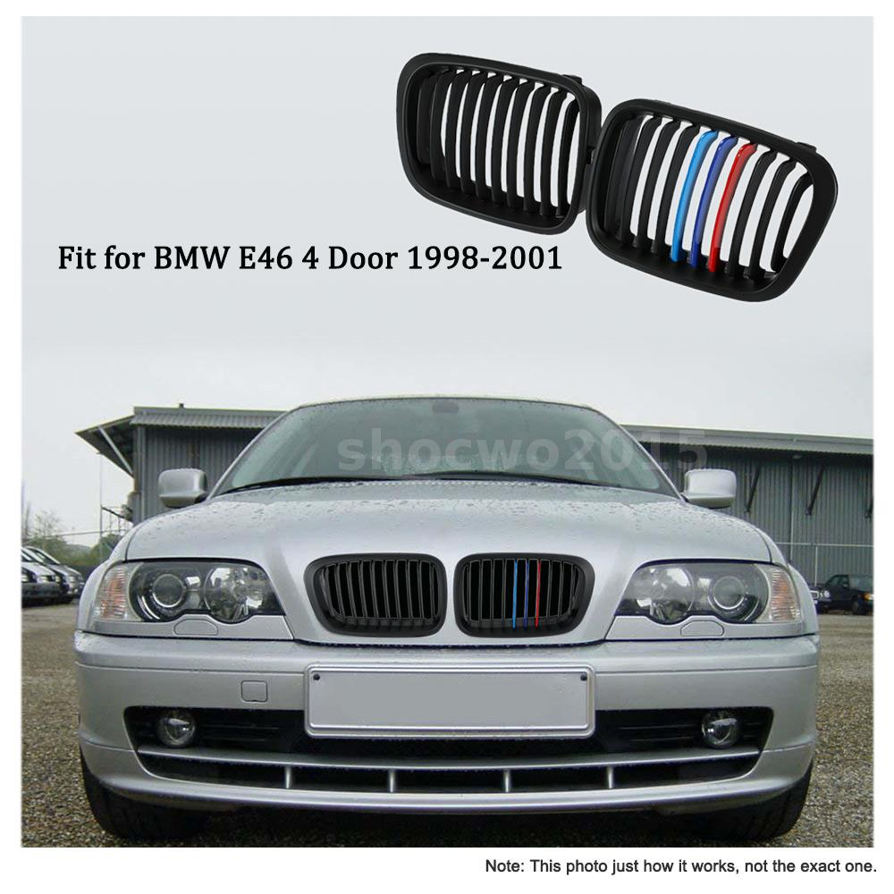 Bmw Grills: For BMW E46 4 Door 1 Pair Front Kidney Grille Grill Black