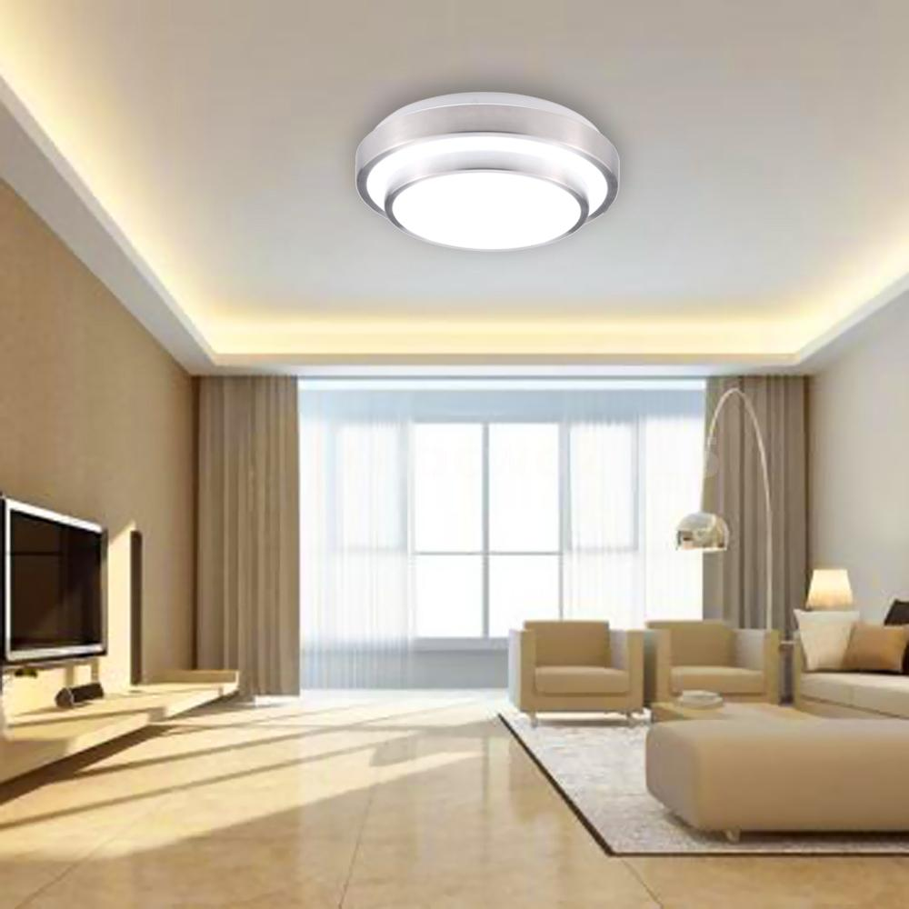15w 30led flush mount ceiling light modern lamp 1200lm for Living room ceiling lights