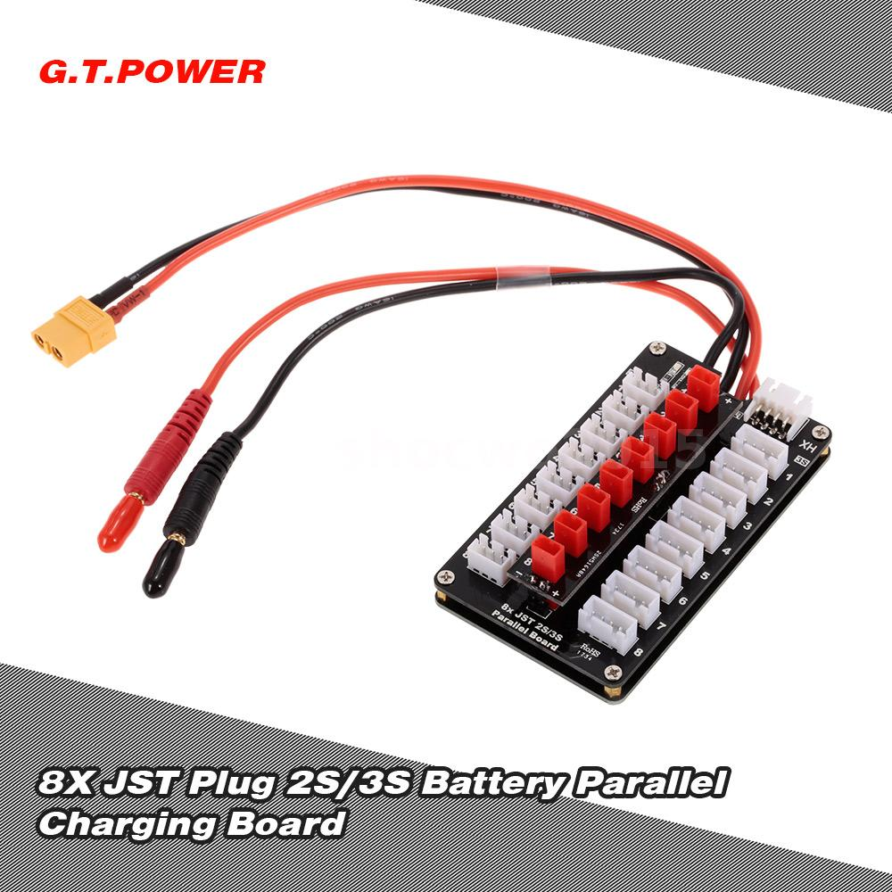 Gtpower 8x Jst Plug 2s 3s Battery Parallel Charging Board For Wiring Batteries This Product Is Used Connecting And Simultaneously In Including The Lipo Life Li Ion