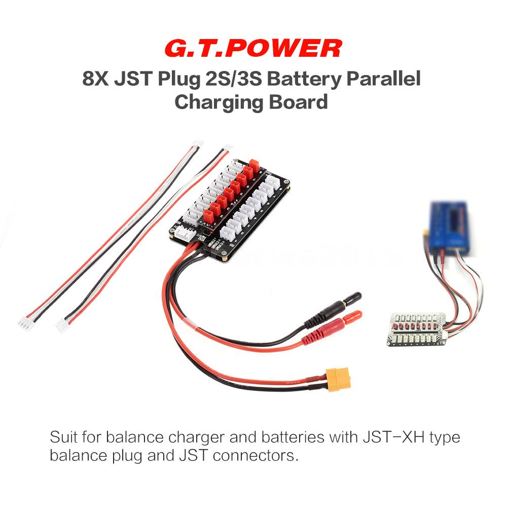 Gtpower 8x Jst Plug 2s 3s Battery Parallel Charging Board For Wiring In Batteries This Product Is Used Connecting And Simultaneously Including The Lipo Life Li Ion